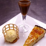 Caramelised rice pudding tart
